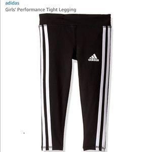 Adidas girls performance tight legging